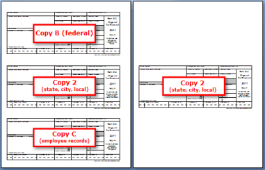 Form W-2: Printing on perforated paper