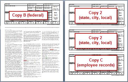 Form W-2: Printing on plain paper