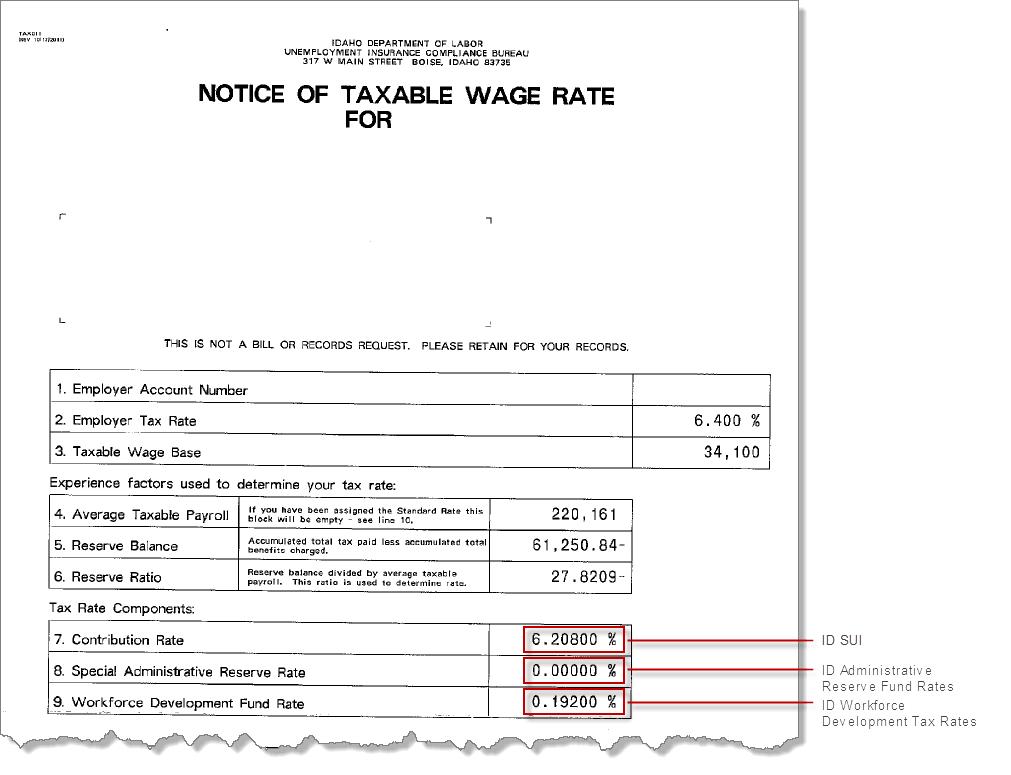 idaho unemployment tax id number