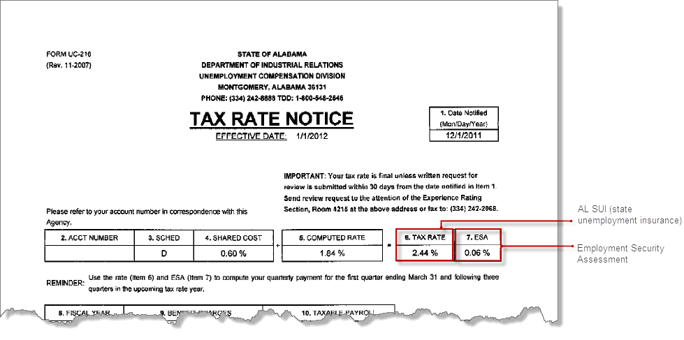 Sample State Tax Notices