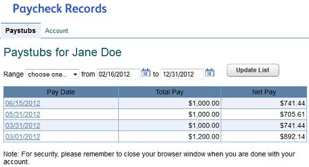 paycheck records.com